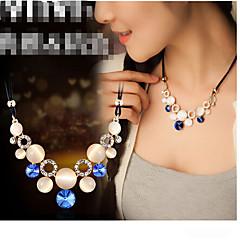 preiswerte Halsketten-Damen Kristall Statement Ketten - Opal Grün, Blau Modische Halsketten Schmuck Für Party
