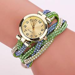 preiswerte Damenuhren-Xu™ Damen Modeuhr Armband-Uhr Quartz Armbanduhren für den Alltag Imitation Diamant PU Band Analog Blume Leopard Böhmische Schwarz / Weiß / Blau - Blau Hellblau Leicht Grün