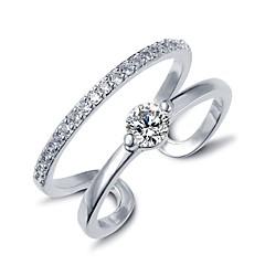 저렴한 -여성 문자 반지 조절 가능 의상 보석 지르콘 보석류 제품 결혼식 파티 일상 캐쥬얼