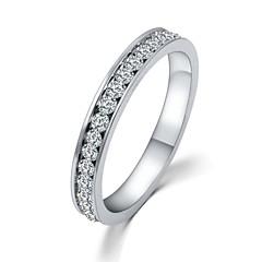 preiswerte Ringe-Damen Bandring - Zirkon Liebe Erklärung, Klassisch Verstellbar Silber Für Hochzeit / Party / Alltag