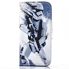 Недорогие Кейсы для iPhone 6 Plus-Кейс для Назначение Apple iPhone 6 iPhone 6 Plus Бумажник для карт Кошелек со стендом Флип Чехол Мультипликация Твердый Кожа PU для