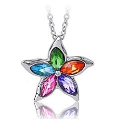 preiswerte Halsketten-Damen Kristall Anhängerketten - Krystall damas, Modisch Grün, Blau, Regenbogen Modische Halsketten Schmuck Für Hochzeit, Party, Alltag, Normal