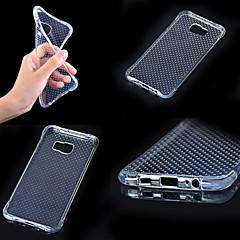 billige Galaxy A5 Etuier-Etui Til Samsung Galaxy Samsung Galaxy etui Stødsikker Transparent Bagcover Helfarve TPU for A7(2016) A5(2016) A3(2016) A9 A8 A7 A5 A3