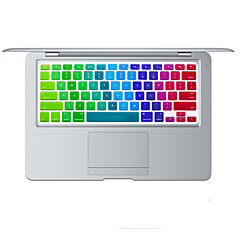 arco-íris pele brilhante tampa do teclado de design de silicone para MacBook Air 13,3, MacBook Pro com retina 13 15 17