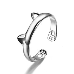 Women's Cuff Ring Fashion Cute Style Costume Jewelry Silver Sterling Silver Animal Shape Jewelry For Party Daily Casual