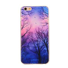 Для Кейс для iPhone 6 / Кейс для iPhone 6 Plus С узором Кейс для Задняя крышка Кейс для дерево Мягкий TPUiPhone 6s Plus/6 Plus / iPhone