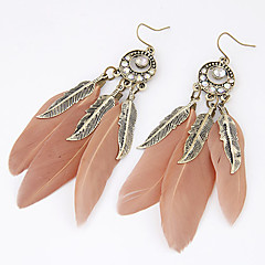 Women's Drop Earrings Fashion Personalized European Costume Jewelry Feather Alloy Leaf Feather Jewelry For Party Daily Casual