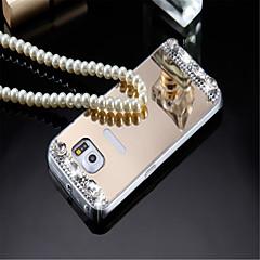 Voor Samsung Galaxy hoesje Beplating / Spiegel / Reliëfopdruk hoesje Achterkantje hoesje Effen kleur Acryl Samsung A8 / A7 / A5