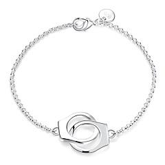 Női Lánc & láncszem karkötők Elbűvölő karkötők Divat jelmez ékszerek Ezüst Réz Kapocs Ékszerek Kompatibilitás Esküvő Parti