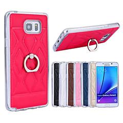 Για Samsung Galaxy Note Βάση δαχτυλιδιών tok Πίσω Κάλυμμα tok Γεωμετρικά σχήματα Συνθετικό δέρμα Samsung Note 5