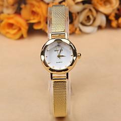 preiswerte Damenuhren-Damen Armbanduhr Armbanduhren für den Alltag Legierung Band Modisch / Elegant Schwarz / Weiß / Braun / Edelstahl / Ein Jahr / SSUO 377
