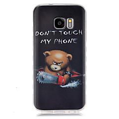 olcso Galaxy S3 tokok-Mert Samsung Galaxy tok Minta Case Hátlap Case Rajzfilmfigura TPU SamsungS7 / S6 edge / S6 / S5 Mini / S5 / S4 Mini / S4 / S3 Mini / S3 /