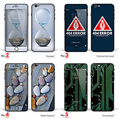 "iPhone 6 Plus/6S Plus Art Sticker: ""Hourglass, Girlfirend Not Found, Pebble Footprint, Circuit Board"" (Creative Series)"