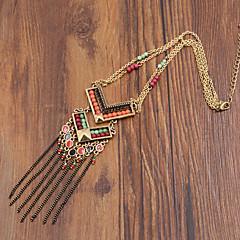 Damskie Naszyjniki z wisiorkami Y-Naszyjniki Agat Żywica Emalia sztuczna Diament Stop Modny luksusowa biżuteria Golden Biżuteria Na