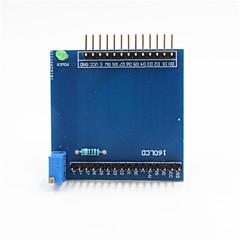 Χαμηλού Κόστους Οθόνες-ενότητα πλακέτα επέκτασης ασπίδα 1602 lcd για Raspberry Pi Arduino + - μπλε
