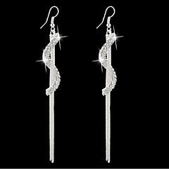 preiswerte Ohrringe-Damen Quaste / Lang / S geformt Ohrring - Strass Gothic Silber / Golden Für Alltag / Normal