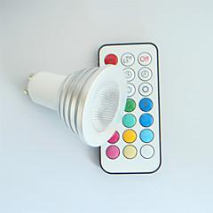 GU10 Focos LED MR16 1 LED de Alta Potencia 300 lm RGB RGB K Regulable Control Remoto Decorativa AC 100-240 V