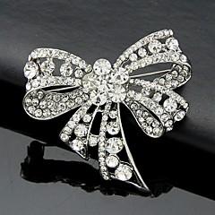 Feminino Broches Moda Estilo bonito Cristal Formato de Laço Jóias Para Casamento Festa Ocasião Especial Aniversário Diário