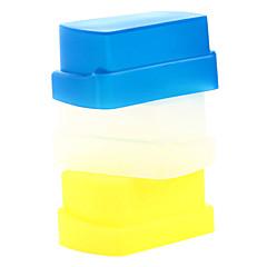 ny kisel flexibel flash studsa diffusor softbox vit + gul + blå för Nikon SB800 / SB600 yn-460 yn-465 yn-467 yn-468