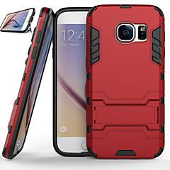 Til Samsung Galaxy S7 Edge Etuier Stødsikker Med stativ Bagcover Etui Rustning PC for Samsung S7 edge S7 S6 edge plus S6 edge S6