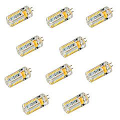 preiswerte LED-Birnen-YWXLIGHT® 10 Stück 600 lm G4 LED Doppel-Pin Leuchten T 72 Leds SMD 3014 Dekorativ Warmes Weiß Kühles Weiß DC 24V AC 24 V Wechselstrom 12V