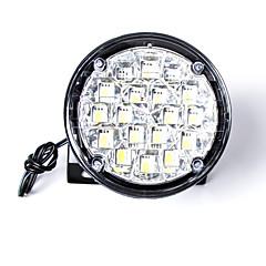 빛을 실행 ™ 보편적 인 18 주도 라운드 스타일의 자동차 DRL 낮를 carking / 안개 빛 하얀 빛 (2 개)