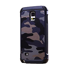 For Samsung Galaxy Note Stødsikker Etui Bagcover Etui Camouflage PC for Samsung Note 5 Note 4