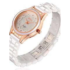 preiswerte Tolle Angebote auf Uhren-Damen Modeuhr Wasserdicht Keramik Band Weiß