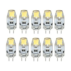 cheap LED Bulbs-10pcs 1W 100 lm G4 LED Bi-pin Lights T 1 leds COB Dimmable Warm White Cold White DC 12V