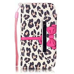 Mert iPhone 5 tok Kártyatartó / Pénztárca / Állvánnyal Case Teljes védelem Case Leopárd minta Kemény Műbőr Apple iPhone SE/5s/5