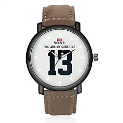 preiswerte Tolle Angebote auf Uhren-SOXY Herrn Armbanduhr Schlussverkauf Leder Band Charme Schwarz / Braun