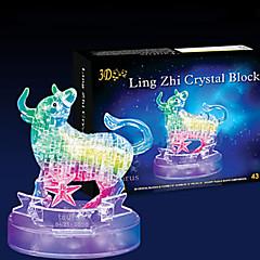 3D-puzzels Legpuzzel Kristallen puzzels Speeltjes Stier 3D 43 Stuks