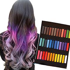 36 lápices de colores de color tiza temporal para el cabello pasteles tintes capilares no tóxicos se adhieren herramientas de estilo de