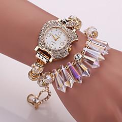 preiswerte Damenuhren-Damen Modeuhr / Armband-Uhr Stoff Band Weiß / Blau / Rosa