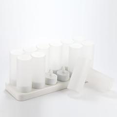 preiswerte Ausgefallene LED-Beleuchtung-12 Stück Kerzenform Nachttischlampen mit 12-Port-Ladegerät 2,4V 120mAh 0,15 W