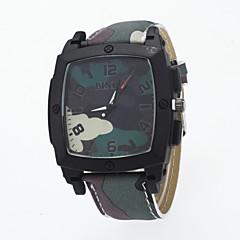 お買い得  メンズ腕時計-男性用 リストウォッチ クォーツ ホット販売 / PU バンド ハンズ カジュアル ブルー / レッド / グリーン - ハンターグリーン ライトブルー カーキ色