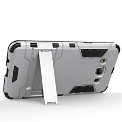 お買い得  Samsung その他の機種用ケース/カバー-ケース 用途 Samsung Galaxy Samsung Galaxy ケース 耐衝撃 スタンド付き バックカバー 鎧 PC のために On 7 On 5 J7 J5 (2016) J5 J3 J2 J1 Ace J1 (2016)