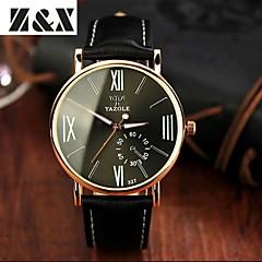 preiswerte Tolle Angebote auf Uhren-YAZOLE Herrn Armbanduhr Quartz Schwarz Analog Silber Grün Blau