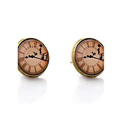 お買い得  イヤリング-スタッドピアス - シンプルなスタイル 青銅色 用途 結婚式 パーティー 日常