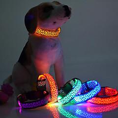 Halsband LED Lampor Justerbara / Infällbar Leopard Nylon