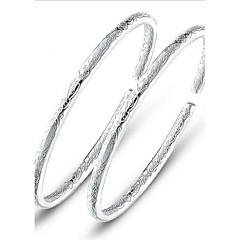 S925 Pure Stering Silver Open Bangle Bracelet Jewelry