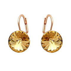 preiswerte Ohrringe-Damen Kristall Tropfen-Ohrringe - Kubikzirkonia Simple Style Orange / Rosa Für