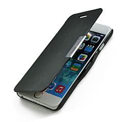 Для Кейс для iPhone 6 / Кейс для iPhone 6 Plus Флип Кейс для Чехол Кейс для Один цвет Твердый Искусственная кожаiPhone 6s Plus/6 Plus /