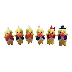 6PCS Six Little Yellow Duck Plush Finger Puppets Kids Talk Prop