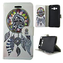 tanie Galaxy A3 Etui / Pokrowce-Kılıf Na Samsung Galaxy Samsung Galaxy Etui Etui na karty Z podpórką Flip Magnetyczne Wzór Pełne etui Łapacz snów Skóra PU na A5(2016)