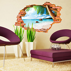 보태니컬 / 풍경 벽 스티커 3D 월 스티커,PVC 60*90CM