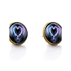 billige Øreringe-Stangøreringe Kærlighed Hjerte minimalistisk stil Syntetiske ædelstene Glas Legering Hjerteformet Drage Smykker Til Bryllup Fest Daglig