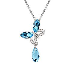 preiswerte Halsketten-Damen Kristall Anhängerketten - Schmetterling, Tier Modisch Rose, Grün, Blau Modische Halsketten Schmuck Für Alltag, Normal