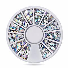 1wheel oval ab nail decorations-6cm wheel-Szeretetreméltő-Akril-Ujj-Körömékszerek