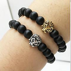 preiswerte Armbänder-Achat Glasperlen Bettelarmbänder - Natur, Kräftegleichgewicht Armbänder Silber / Golden Für Alltag / Normal
